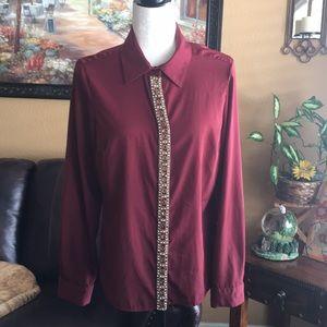 Antonio Melani burgundy  blouse size medium